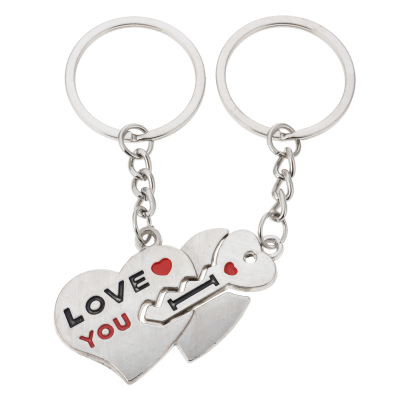 sleutelhanger hart 2delig